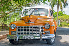 Beautifully restored old classic Dodge car in Havana Royalty Free Stock Image