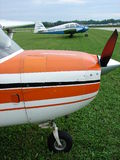 Beautifully restored Piper Pa23 Apache twin engine aircraft. The photo of this beautifully restored Piper Pa23 Apache twin engine aircraft was taken at the Stock Images