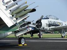 Beautifully restored T28 Trojan warbird trainer. The photo of this beautifully restored T28 Trojan warbird trainer was taken during the annual EAA Airventure Royalty Free Stock Images