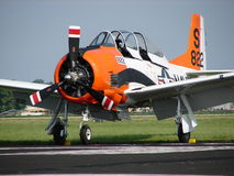 Free Beautifully Restored T28 Trojan Warbird Trainer. Stock Photography - 45891252