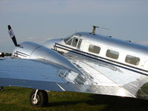 Beautifully restored vintage Beechcraft Model 18 Business transport. Stock Image