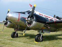Beautifully restored vintage Beechcraft Model C-45 military transport. Royalty Free Stock Photos