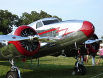 Beautifully restored vintage Lockheed 12 aircraft. Stock Photo