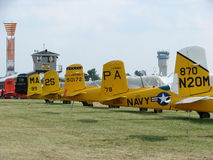 Beautifully restored WWII Beechcraft T-34 Mentor trainers. Royalty Free Stock Photos