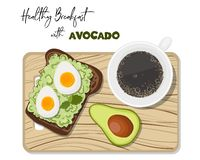 Avocado Toast Vector vector illustration