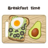 Vector Avocado Toast vector illustration