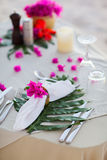 Beautifully served table royalty free stock photo