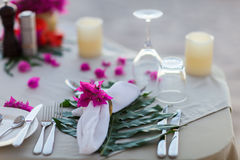 Beautifully served table Royalty Free Stock Images