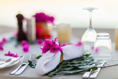 Beautifully served table stock photography