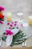 Beautifully served table royalty free stock photography