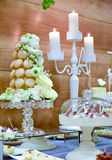 Beautifully served  table. Wedding or engamenent  reception Stock Photos