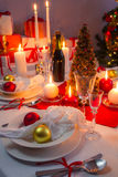 Beautifully setinng table for Christmas Eve Royalty Free Stock Photo