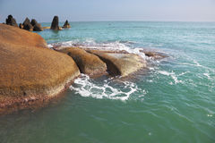 Beautifully shining cliffs on  Koh Samui Stock Image