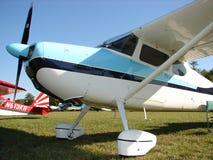 Beautifully återställda Cessna 170 B i morgonljuset Arkivfoton