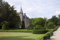 Beautifully trimmed box hedges in garden estate Twickel Castle in Delden, Netherlands Stock Image