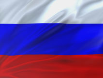 Beautifully waving flag of Russia. 3d illustration Stock Photography