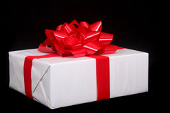 Beautifully wrapped Christmas present Stock Photos