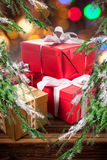 Beautifully wrapped gifts Royalty Free Stock Photo