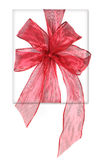 Beautifully Wrapped Red Birthday or Christmas Pres Royalty Free Stock Photo