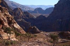 Beautifuls гор Petra Стоковая Фотография RF