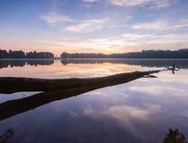Beautifulsunrise over lake Stock Image