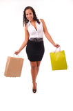 Beautifulwoman with two shopping bags Stock Photos