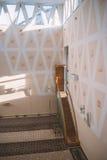Beautifuly adornó la mezquita interior Fotografía de archivo libre de regalías