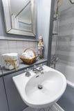 Beautifuly dressed bathroom Stock Photo