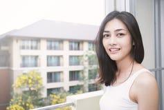 Beautify asian girl smiling royalty free stock photo