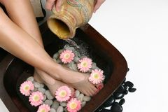 Beautifying feet royalty free stock photography