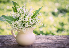 Beautifyl bouquet of lilies of the valley Royalty Free Stock Images