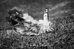Beautifyl Dame mit ihrem träumenden Blick Lizenzfreie Stockbilder