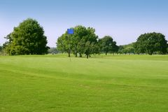 Beautigul Golf green grass sport fields Royalty Free Stock Photography