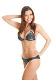 Beautilful smiling woman in swimwear Royalty Free Stock Photos