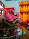 Beautilul Flowers vase in home. See the image. Beautiful, coloureful, attractive flower vase in home stock image