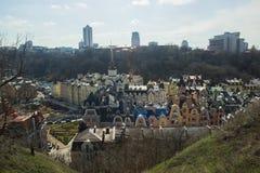 Beautiufl gekleurde gebouwen in Kiev Royalty-vrije Stock Fotografie