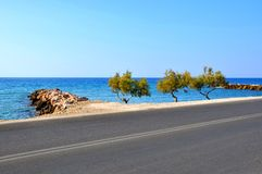 Beautiuful landskap av det Aegean havet Arkivbilder