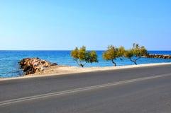 Beautiuful sceneria morze egejskie Obrazy Stock