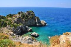 Beautiuful scenery of Aegean sea Royalty Free Stock Image