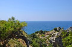 Beautiuful scenery of Aegean sea Royalty Free Stock Photography