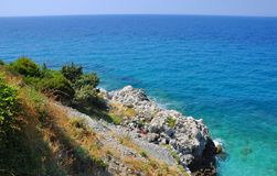 Beautiuful scenery of Aegean sea Stock Image