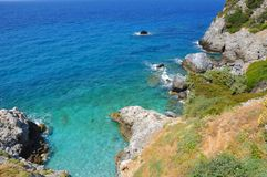 Beautiuful scenery of Aegean sea Royalty Free Stock Images