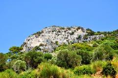 Beautiuful scenery of Aegean sea Stock Photography