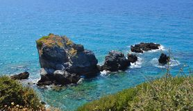 Beautiuful scenery of Aegean sea Royalty Free Stock Photos