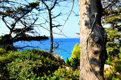 Beautiuful scenery of Aegean sea Stock Photos
