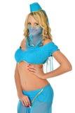 Beautiul blondynki kobieta w Orient piękna kostiumu. obraz royalty free
