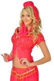Beautiul blondynki kobieta w Orient piękna kostiumu. fotografia royalty free