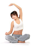 Beautiul girl working out over white Royalty Free Stock Image