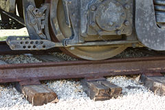 Beautiul image of the train wheels. And railway Stock Photography