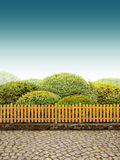 Beautiul ogród Zdjęcie Royalty Free